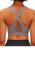 strappy sports bra for women