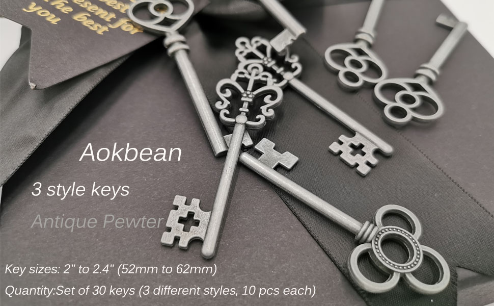 key vintage silver key vintage wedding key vintage bronze key Necklaces