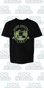 Camp Crystal Lake Counselor Horror Movie Vintage Toddler Kids Girl Boy T-Shirt