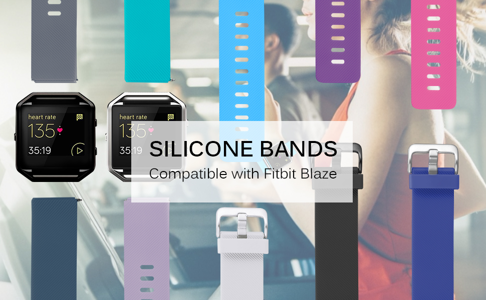 sport band compatible with fitbit blaze watch for men