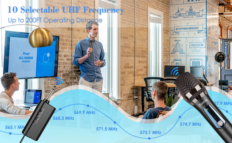 10 Selectable UHF Frequency