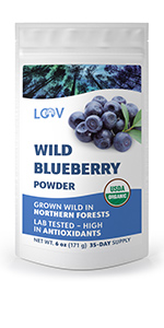 Organic wild blueberry powder