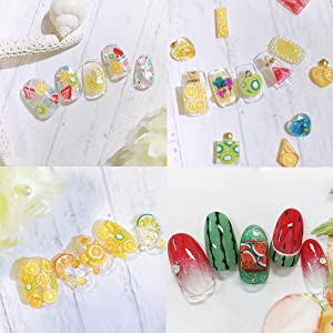 DIY polymer clay fruit slices application