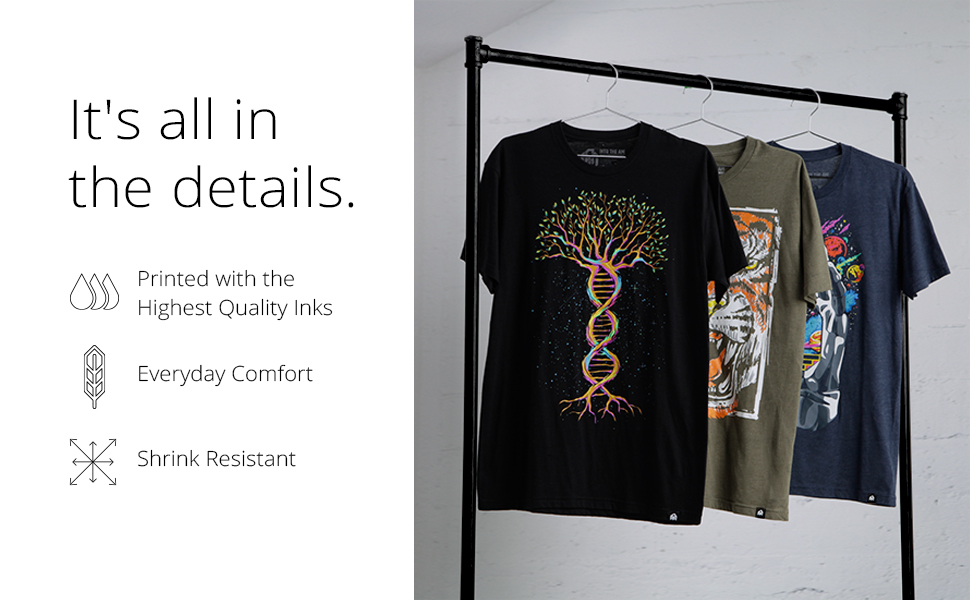 into the am black tree of life graphic tee olive thai ger t-shirt navy push through short sleeve
