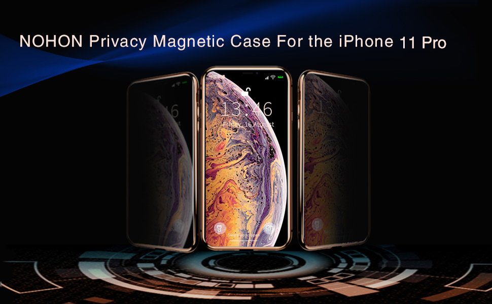 privacy magnetic case for iPhone 11 pro