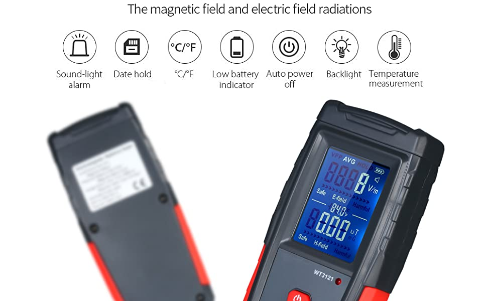 test electric field strength and magnetic field strength to reach the optimal test result