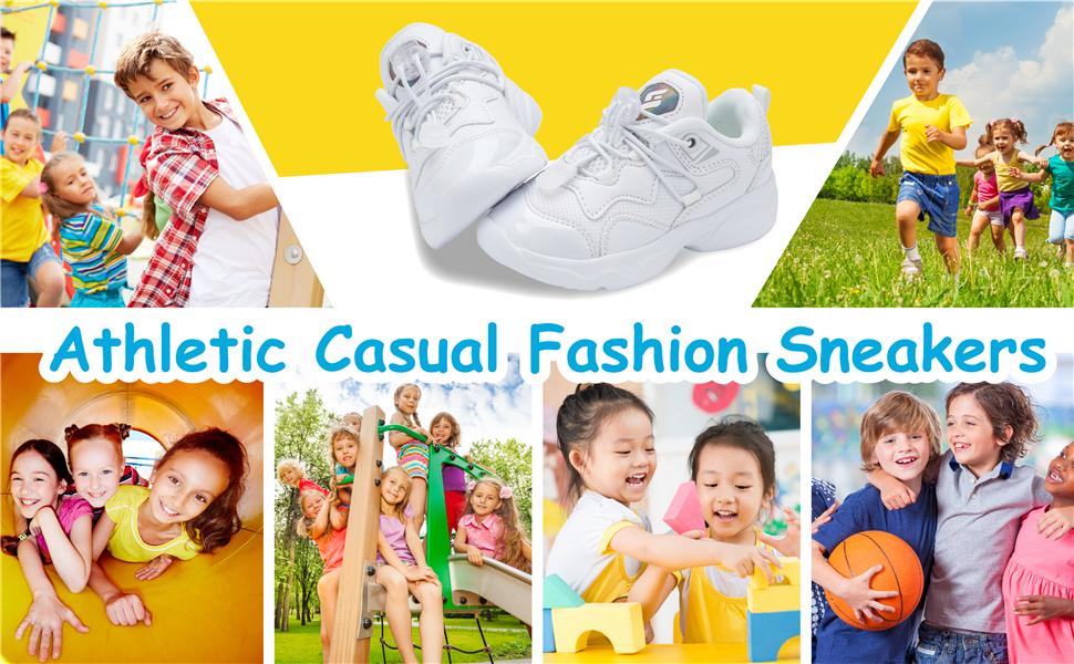 Lightweight Sports Basketball Shoes Casual Walking Shoes for Kids Boys Girls