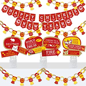 Chinese New Year Party Decoration and Banner Bundle