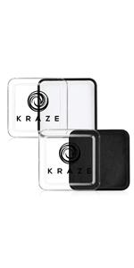 Kraze FX Black and White Face Paint Kit