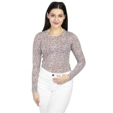 Floral tops for women long sleeve crew neck