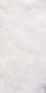 Faux Fur Wool Oval Carpet