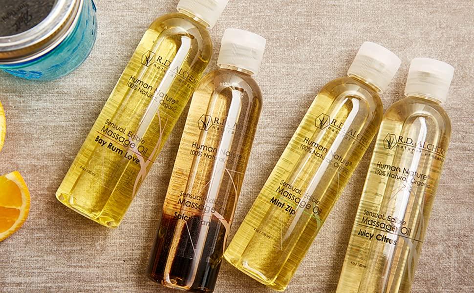 edible massage oils
