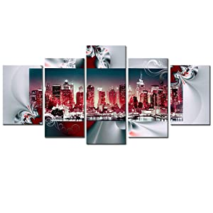 New York City Wall art Canvas Red