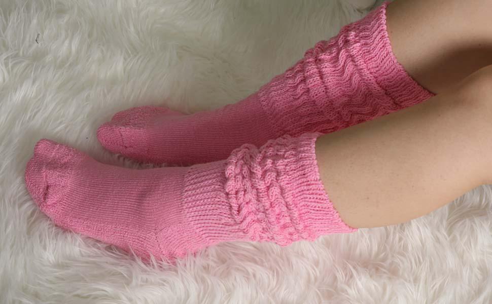 slouch socks for women scrunch 80s heavy long warm thick slouchy knee high leg warmer sock