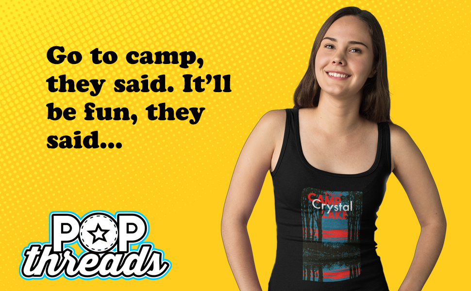 Camp Crystal Lake Counselor Horror Movie Vintage Fashion Tank Top Tee for Women