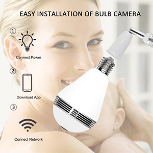 Looline bulb camera for home security