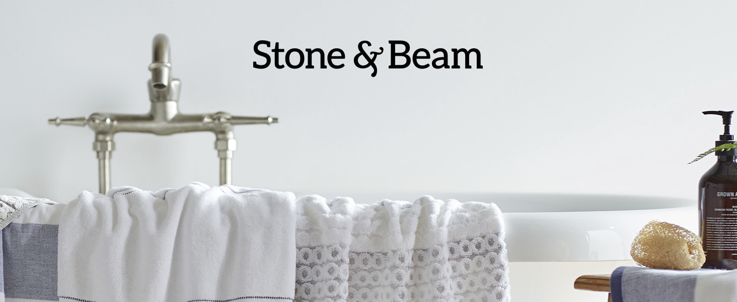 Stone and Beam, home furnishings, farmhouse, modern farmhouse, towels, bath, washcloth, soft