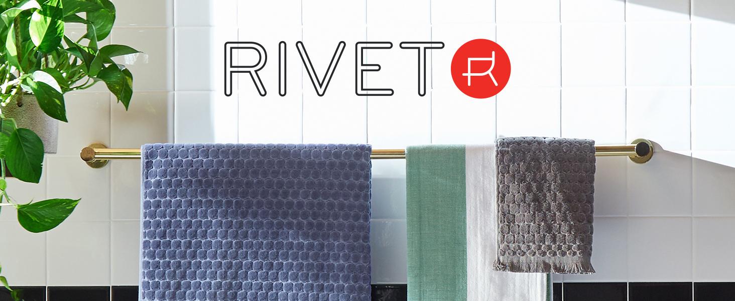 Rivet, midcentury modern, studio, urban, apartment, loft, towels, bath, washcloth, soft
