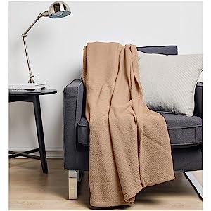 AmazonBasics Cotton Woven Blanket