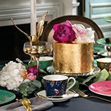 Tea Cup & Saucer  - Navy sara miller portmeirion chelsea 22 carat gold green navy grey green pink
