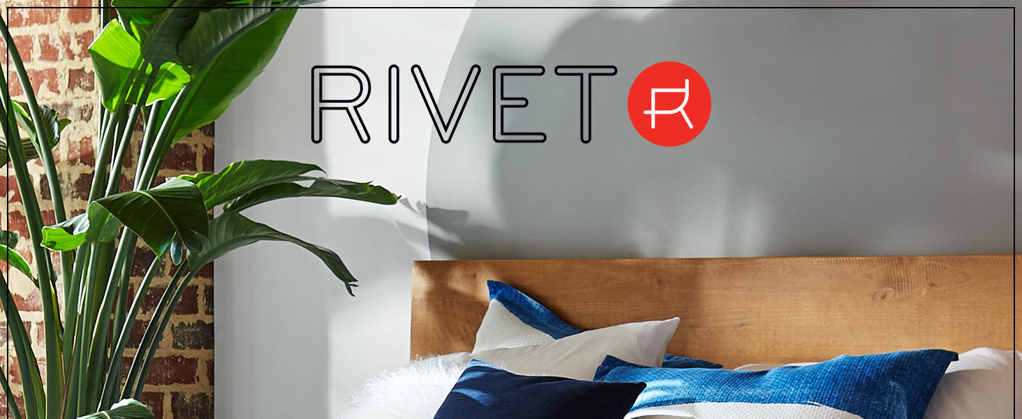 Rivet, home furnishings, small space, duvet, coverlet, sheets, pillow, quality, blanket