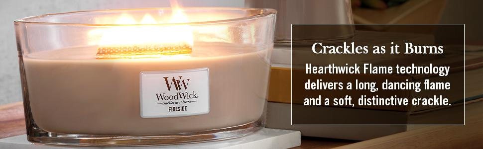 WoodWick candles with Hearthwick Flame technology