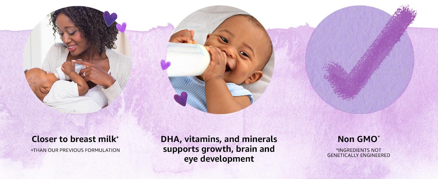 baby development, human milk, DHA support, baby, immune support baby, protein, non-fat milk