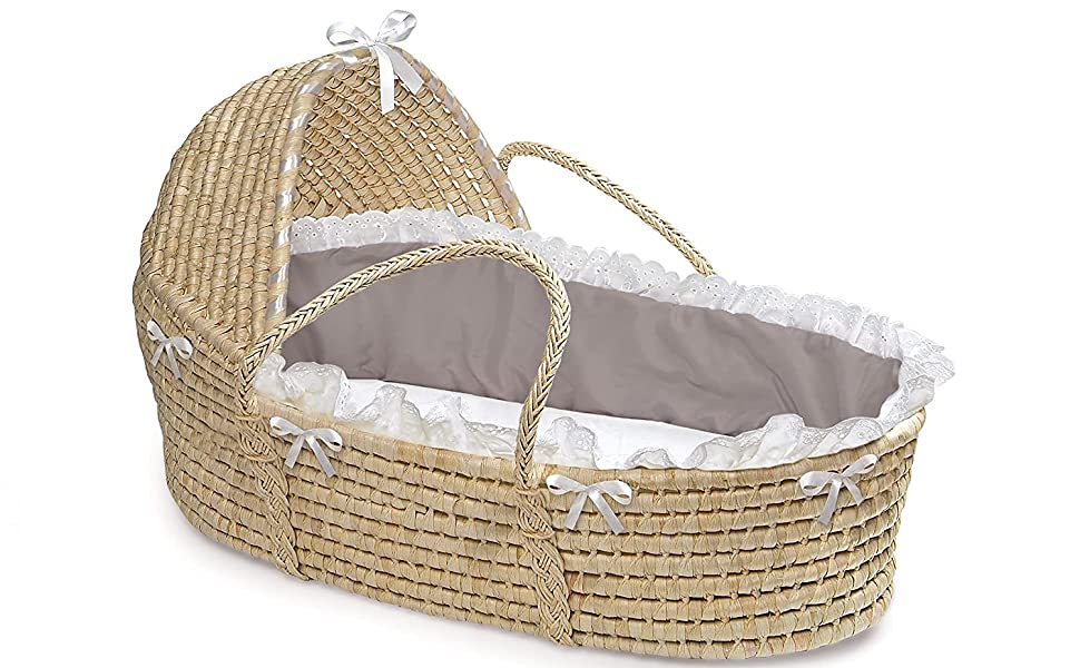 Sheet Baby Moses Basket with Liner and Pad