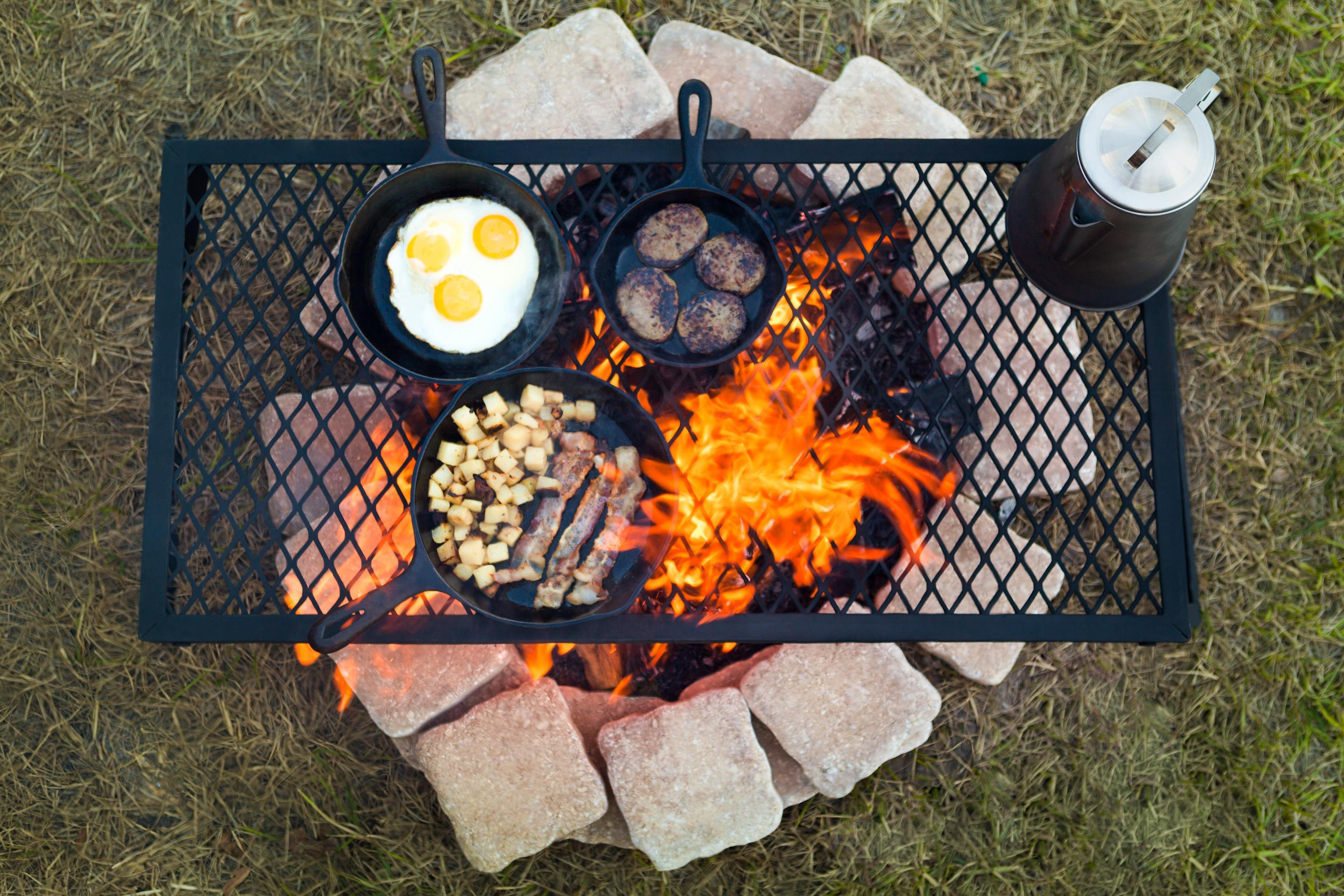 Campfire Grill Heavy Duty Folding Cooking Over Open Fire Welded Steel X-Large