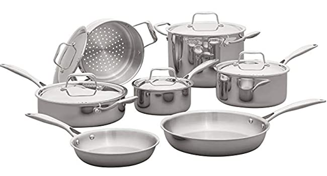 Cookware, tri ply stainless steel, oven safe
