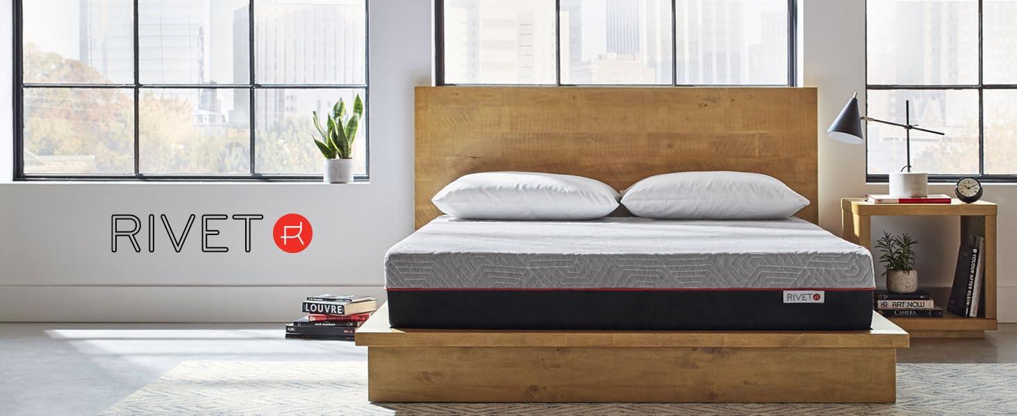 Rivet Mattress Sleep recovery memory foam 10 year warranty free trial bed