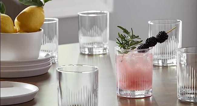Dinnerware, glasses, cocktail glass, tumbler, service for 6, dishwasher safe