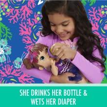 Baby Alive Shimmer 'N Splash Brown Hair Mermaid Baby Doll