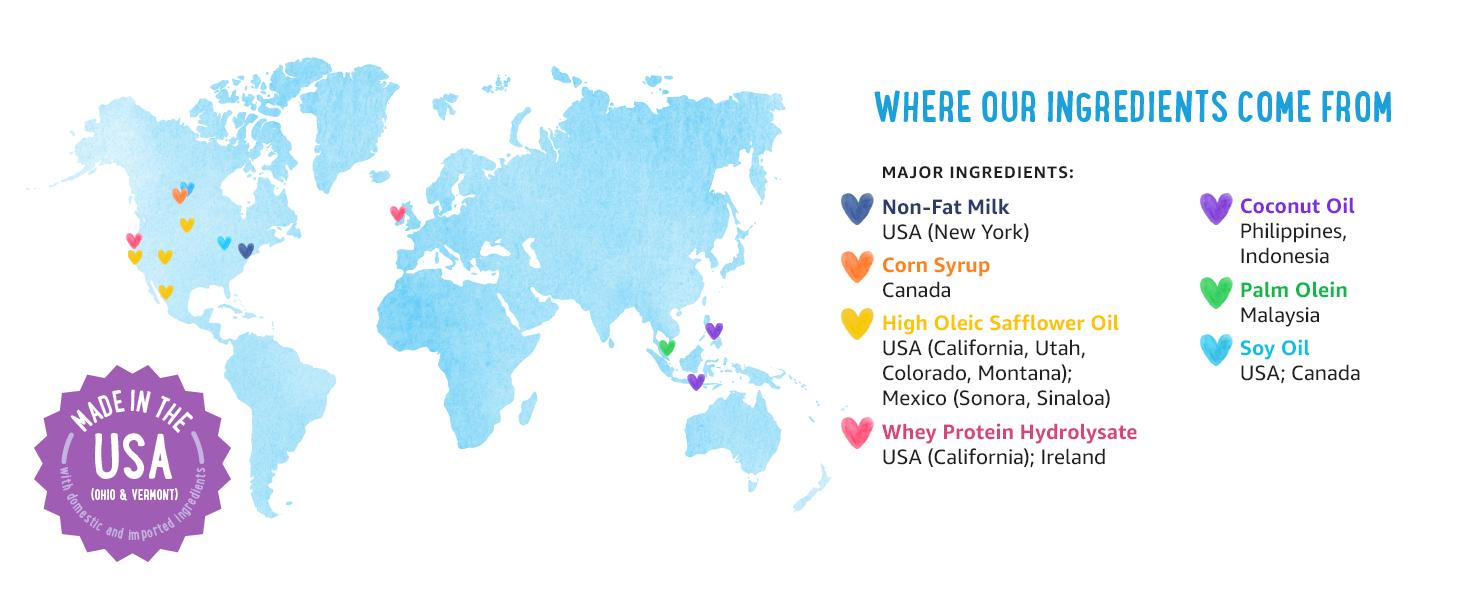 ingredients, non-fat milk, baby, feeding, usa, development, milk, non-gmo, gentle, growth