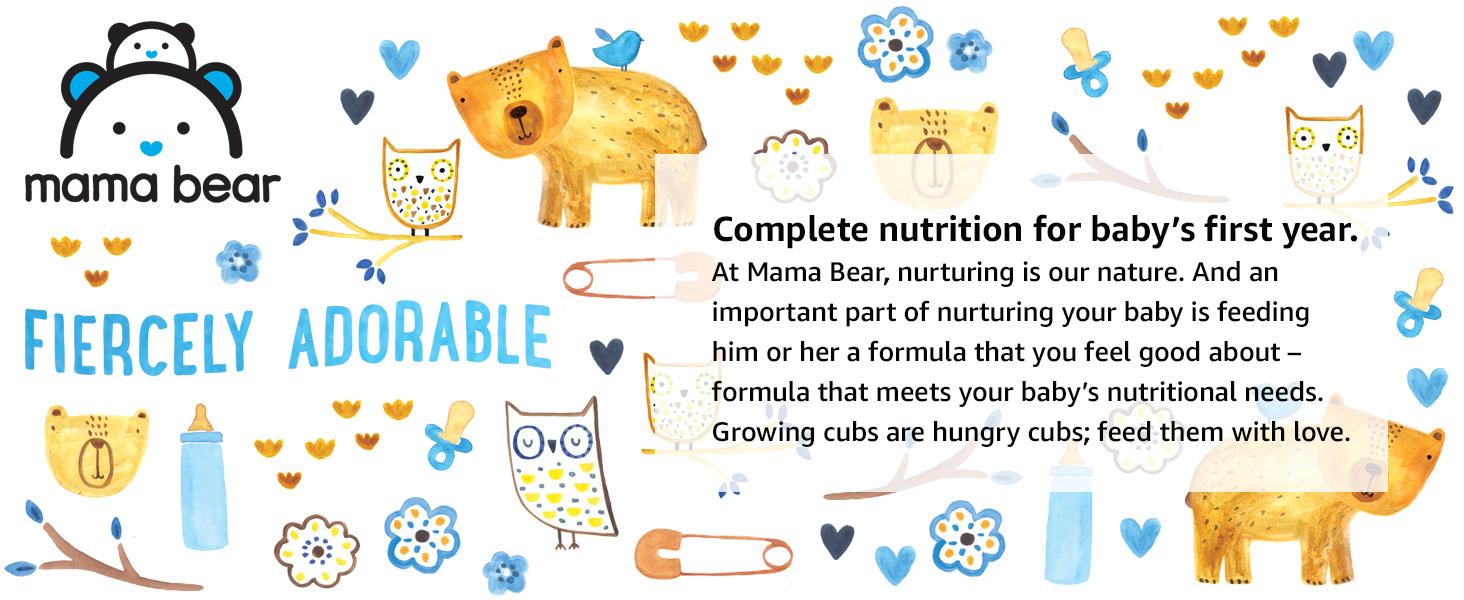 Mama Bear, Formula, Baby's First Year, gentle, nutrition, feeding, breastmilk, baby, babies