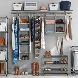 organization, storage, closet, laundry, shoes, garment, amazonbasics, seville, songmics, home décor