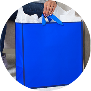 Classic blue gift bag for Father's Day, birthdays, graduations and retirements