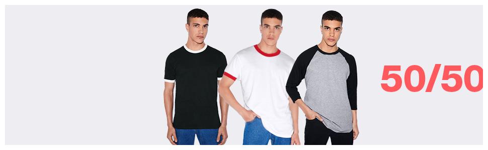 american apparel, 50/50, t-shirts, soft tee