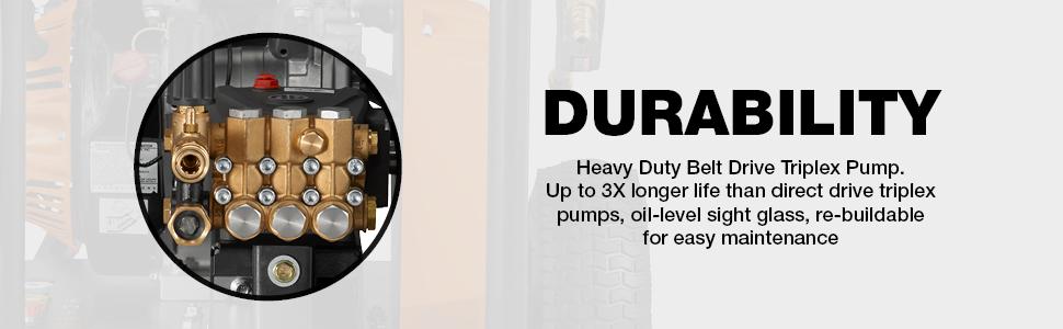 Pressure washer, durability, pump