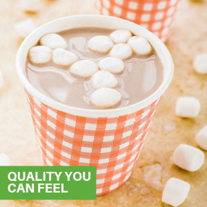 These paper coffee cups are specially designed to be leakproof to remove this risk of messes.