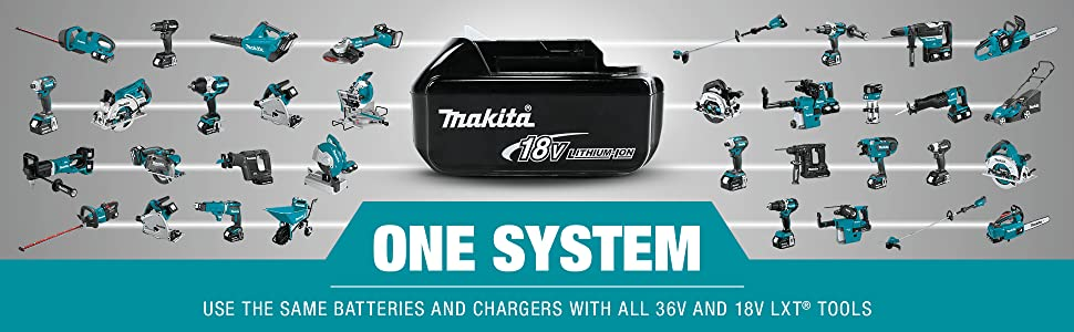 one system use same batteries chargers all 36v 18v cordless lxt tools options selection variety
