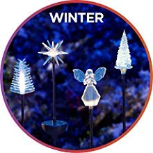 winter decor, outdoor solar lights