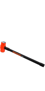 Groz 34513 Heavy Duty 8lb Sledge Hammer with 30 Inch Indestructible Handle