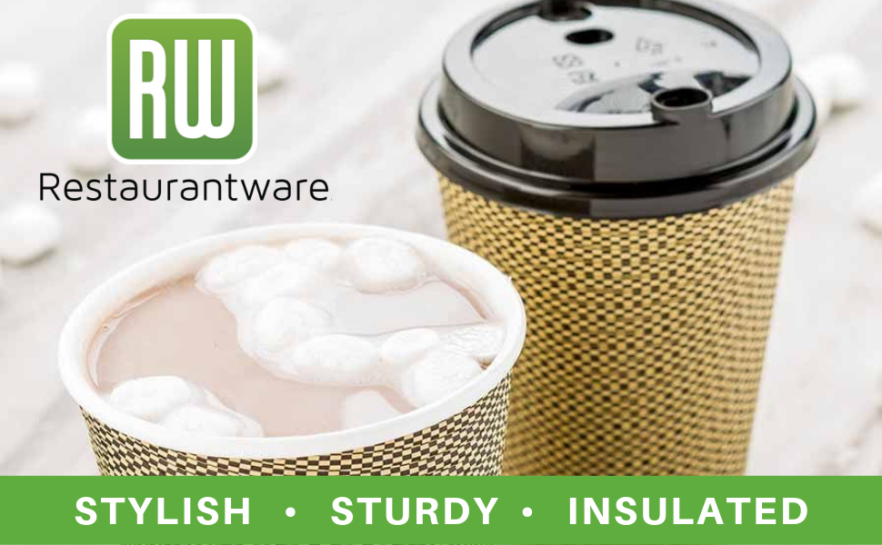 Add style to your hot beverages by serving them in Restaurantware's 12-oz coffee cups.