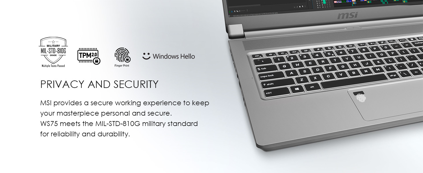 Privacy and Security with Windows Hello military grade