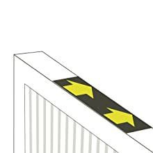 illustration of filtrete filter with arrows pointing direction of installation