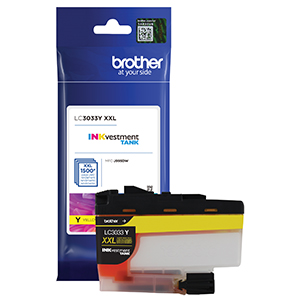 brother lc3033y, ink, yellow, printer, cartridge, high yield, inkvestment, brother, mfc‐j995dw