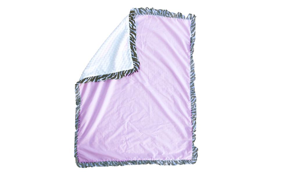 Safari Crib Bedding Set, Zebra Stripe Baby Blanket, Pink Baby Blanket,Pam Grace Creations Zara Zebra