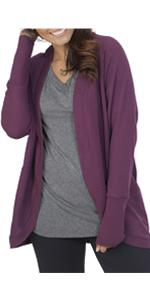 Essentials, cardigan, french terry, cocoon wrap, ladies, comfy