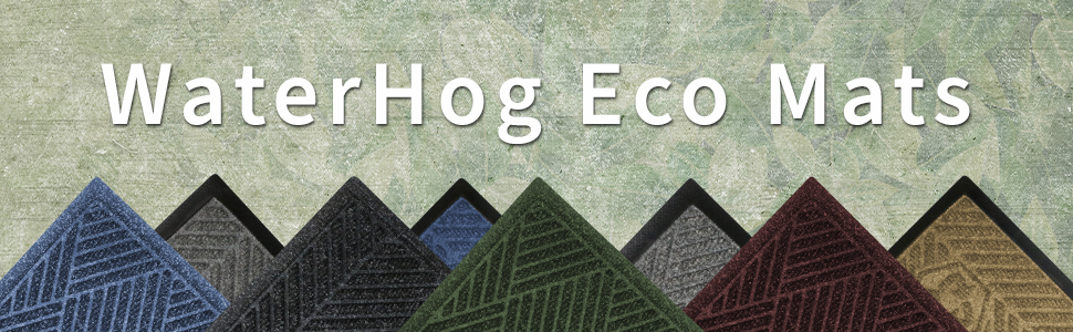 WaterHog Eco mats, WaterHog mats, M+A Matting, safe matting, clean matting, comfortable matting